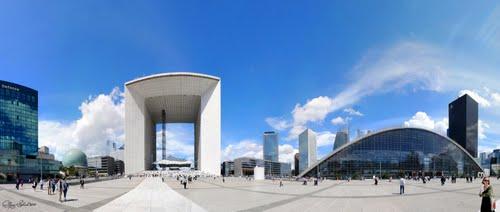 La Defense mit Grande Arc und Hilton (c) M.C. ESCHERle