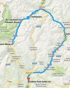 Route über Jaufenpass und Brixen